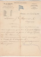 Pays Bas Facture Lettre Illustrée 20/8/1904 Jos De POORTER Ironore & Coal Importer - Cognac ROTTERDAM - Pays-Bas