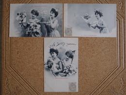 3 CPA SAINTE JEANNE DE 1903 - Fêtes - Voeux