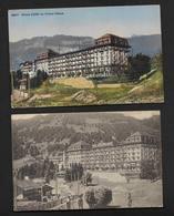 Villars Palace Hôtel- Vaud Suisse - 2 Cartes Anciennes - VD Vaud