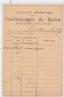 TILLEUR-LEZ-LIEGE-CHARBONNAGE-DU HORLOZ-CARTE D'EXPEDITION-ENVOYEE-1895-VOYEZ LES 2 SCANS-RARE ! ! ! - Saint-Nicolas