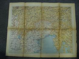 Carte De 1915 - Frontière Austro Italienne Pendant La Guerre Italie Autriche - Carte Abimée Entailles Coupures Sinon Ok - Cartes Géographiques