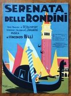 SPARTITO MUSICALE VINTAGE SERENATA DELLE RONDINI   Di MEONI-VITALI DIS. R.TIGUCCI ED.A.FORLIVESI & C. FIRENZE - Musica Popolare
