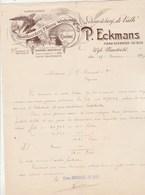Pays Bas Facture Lettre Illustrée 1907 P ECKMANS Distilleerderij Wÿnhandel Likeurstokerij De Valk Wÿk  MAASTRICHT - Pays-Bas