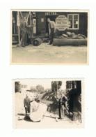 """""""INETRA """" Tronçonneuses électriques Et  à Essence -  Bûcheron, Métier, Bois,...Lot De 2 Photos - Foire Commerciale 1947 - Beroepen"""