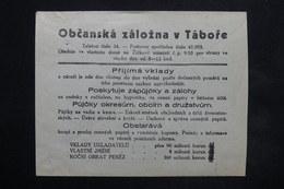 BOHÊME ET MORAVIE - Enveloppe Commerciale , Publicité Au Verso - L 25000 - Bohême & Moravie