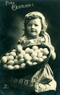 Pâques Enfant Et Paniers D'Oeufs  KKHG Belle Photo - Pascua