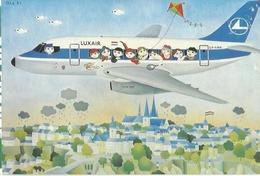 CP AVION PUB COMPAGNIE LUXAIR LX-LGH BOEING 737 - 1946-....: Era Moderna