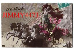CPA - BONNE ANNEE 1910 - Personnages Tirés Par Quatre Chevaux - Edit. A.N Paris - N° 685 - Scans Recto-Verso - New Year