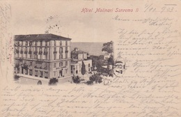 SANREMO HOTEL MOLINARI  VG .AUTENTICA 100% - Imperia