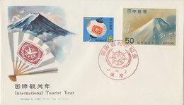JAPAN 1967 FDC International Tourist Year.BARGAIN.!! - FDC