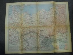Carte De 1915 - Théâtre Oriental De La Guerre 1914 - 1918 Autriche Hongrie Pologne Russie Allemagne (Breslau OlmÜtz ...) - Cartes Géographiques