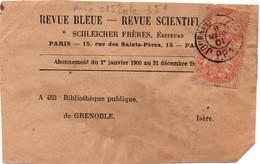 Paris Journaux 1901 PP - Port Payé - Sur étiquette De Journal Au Tarif 125-150 Grammes Du 01.06.1895 - 1877-1920: Période Semi Moderne