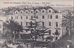 SANREMO PENSION DES ETRANGERS PROPR. MME. A. CAMPI     .AUTENTICA 100% - San Remo