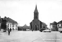 Belgique - PONT-à-CELLES - Place Communale - Eglise - Cartes-Vues A. Smetz, St-Servais - Pont-à-Celles
