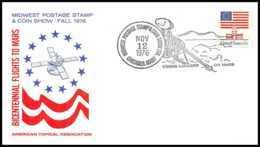 7827/ Espace (space Raumfahrt) Lettre (cover Briefe) 12/11/1976 Bicentenarial Flights To Mars USA - Etats-Unis