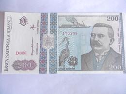 ROUMANIE-BILLET 200 LEI-1992-NEUF - Roumanie