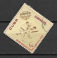 CUBA     -     Judo.     Oblitéré - Usados