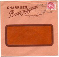 DROME - Dépt N° 26 = BOURG De PEAGE 1942 = Cachet  MANUEL A4 + En-tête CHARRUES BOURGUIGNON - Marcophilie (Lettres)