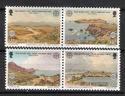 Isle Of Man 1986 Europa: Nature And Environmental Protection, Nature, Birds, Animal, Mi 307-310 MNH(**) - Man (Ile De)