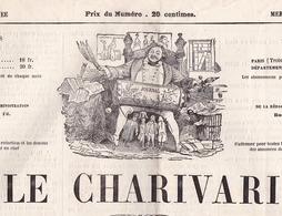 LE CHARIVARI / 6/11/1864 / LITHO  VIGNETTES CHAM ALMANACH 1865 - Newspapers