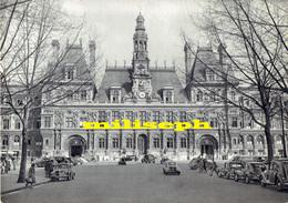 HÔTEL DE VILLE DE PARIS - Fiche Historique - +/-- 1960 - ( Voitures 4 CV - 2CV - Citroen Etc)    (4469) - Photographie
