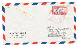 Bolivia AIRMAIL COVER TO Czechoslovakia - Bolivia