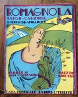 SPARTITO MUSICALE VINTAGE  ROMAGNOLA  Canzone Tango Di APOLLONIO DIS. Anonimo  CASA MUSICALE FABBRI &C TRIESTE - Musica Popolare