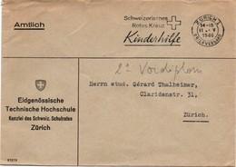 Zurich 1 - 1946 - Rotes Kreuz Kinderhilfe - Croix-rouge - Brief Lettre Cover - Suisse