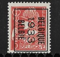 België 1933 Typo Nr. 261B - Sobreimpresos 1932-36 (Ceres Y Mercurio)