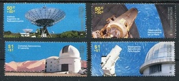 OBSERVATORIOS ASTRONOMICOS. ARGENTINA 2009 GOTTIG JALIL 3757 - 3760 MNH SERIE COMPLETA. OBSERVATORIES STARS SPACE -LILHU - Espace