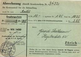 Zurich 22 Fraumunster 1948 Geldpost B - Abrechnung - Switzerland