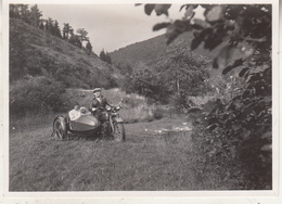 Side-Car - Photo Format 8.5 X 12 Cm - Ciclismo