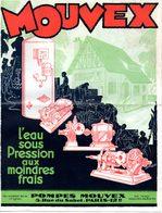 Feuillet Publicitaire En 3 Volets (6 Pages) Pompes MOUVEX. - France