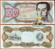 Venezuela 100 Bolivares 5 Feb. 1998 UNC Specimen P-66fs - Venezuela