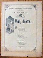 SPARTITO MUSICALE VINTAGE  VIEN DILETTA... CANTI POPOLARI PER PIANOFORTE E GHITARRA RACCOLTI DA MARIO FORESI - Musica Popolare
