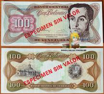 Venezuela 100 Bolivares 8 Des. 1992 UNC Specimen P-66es - Venezuela