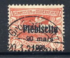 UPPER SILESIA 1921 Plebiscite Overprint On 10 Pfg. Used, Signed Weinberg BPP.  Michel 30 - Deutschland