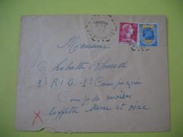 Lettre Cachet Poste  Rurale Constantine    1959 - Algeria (1924-1962)