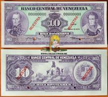 Venezuela 10 Bolivares 1979 UNC Specimen P-51s4 - Venezuela