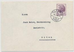 Schweiz Suisse 1946: Pestalozzi Zu 275 Mi 469 Yv 427 Auf Orts-FDC Mit O OLTEN 12.I.46 STADT (Zu CHF 40.00) - FDC