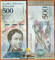 Venezuela 500 Bolivares 2016 UNC Specimen P-94as - Venezuela