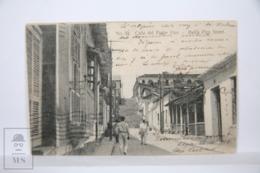 Original Postcard - Postal Cuba - Calle Del Padre Pico - Street View - Year 1913 - Cuba