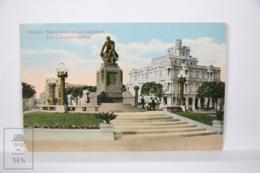 Postcard - Postal Cuba - Habana Monumento A Luz Caballero - Statue - Year 1916 - - Cuba