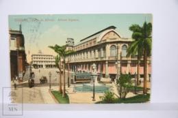 Postcard - Postal Cuba - Habana Plaza Albear - Albear Square - Tram - Year 1915 - Cuba