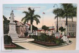 Postcard - Postal Cuba - Habana Estatua Fernando VII Y Castillo La Fuerza - Statue And La Fuerza Fort - Year 1916 - Cuba