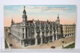 Postcard - Postal Cuba - Habana Centro Gallego Y Teatro Nacional - National Opera House & Gallego Club - Year 1916 - Cuba