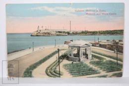 Postcard - Postal Cuba - Habana Malecon Y Morro Castle - Year 1916 - Cuba