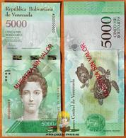 Venezuela 5000 Bolivares 2016 UNC Specimen P-97as - Venezuela