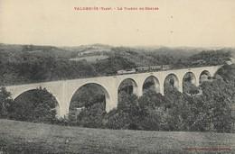 CARTE POSTALE ORIGINALE ANCIENNE : VALDERIES LE VIADUC DE COULES TRAIN LOCOMOTIVE VAPEUR VOYAGEURS ANIMEE TARN  (81) - France