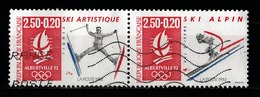 France 1991 : Timbres Yvert & Tellier N° 2709 Et 2710 Se Tenant Avec Oblitérations Mécaniques. - Gebraucht